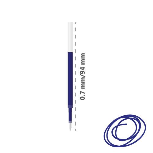 MILAN - Náplň gélová Gel Touch 0,7 mm - modrá