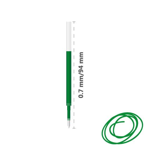 MILAN - Náplň gélová Gel Touch 0,7 mm - zelená