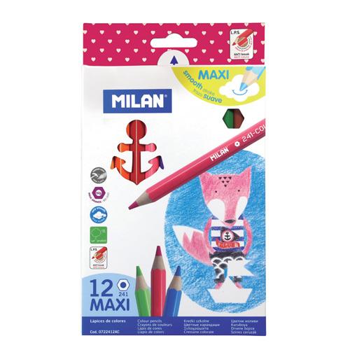 MILAN - Pastelky maxi šesťhranné 12 ks
