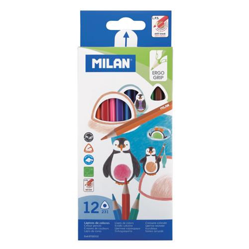MILAN - Pastelky trojhranné 12 ks