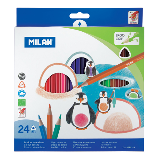 MILAN - Pastelky trojhranné 24 ks
