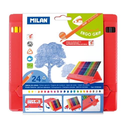 MILAN - Pastelky trojhranné 24 ks v boxe