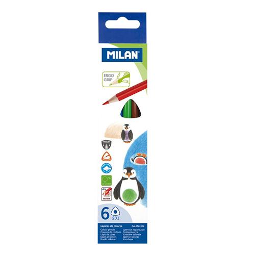 MILAN - Pastelky trojhranné 6 ks