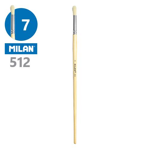 MILAN - Štetec guľatý č. 7 - 512