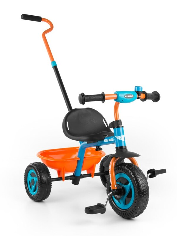 MILLY MALLY - Detská trojkolka Boby TURBO orange