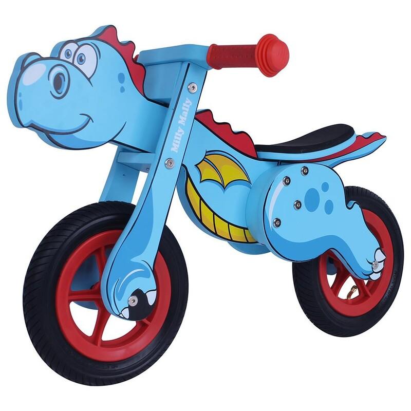 MILLY MALLY - Detské odrážadlo bicykel DINO Mini blue