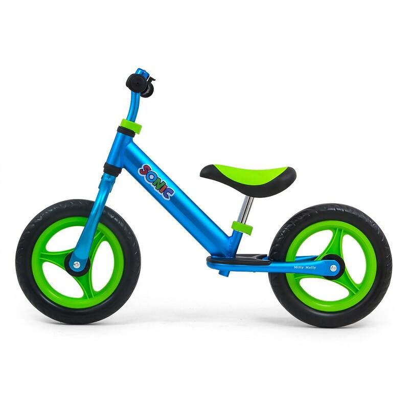 MILLY MALLY - Detské odrážadlo bicykel Sonic Blue