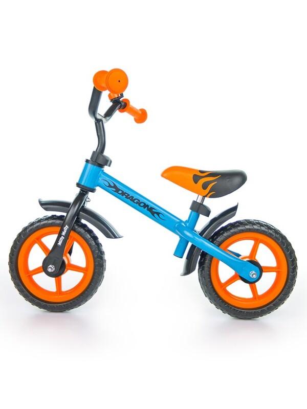 MILLY MALLY - Detské odrážadlo kolo Dragon orange-blue