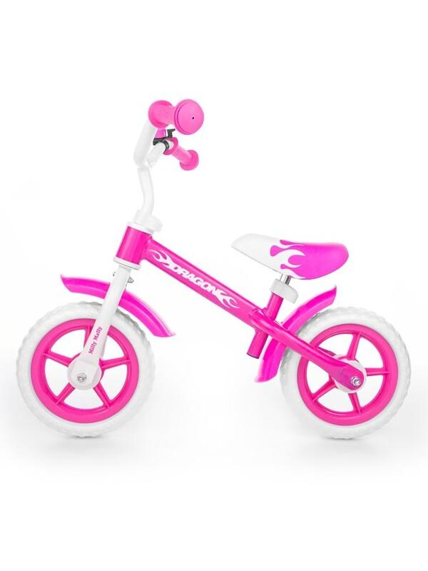 MILLY MALLY - Detské odrážadlo kolo Dragon pink