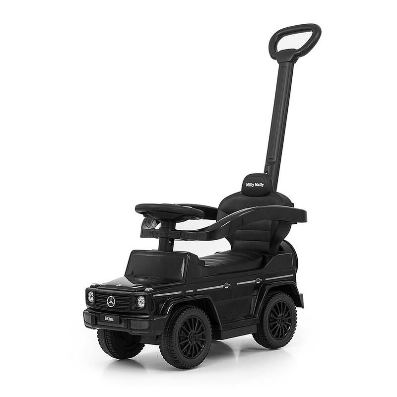 MILLY MALLY - Detské odrážadlo s vodiacou tyčou MERCEDES G350d čierne