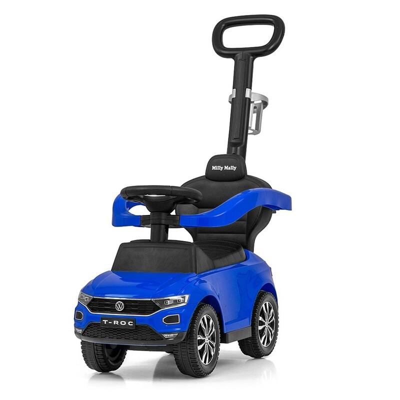 MILLY MALLY - Detské odrážadlo s vodiacou tyčou VOLKSWAGEN T-ROC modré