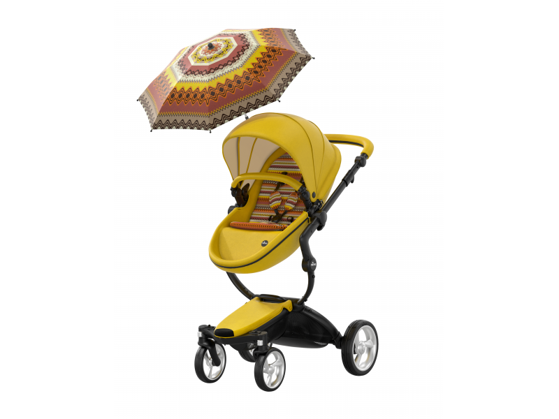 MIMA - Xari kočík 3G - sedák s vaničkou Yellow
