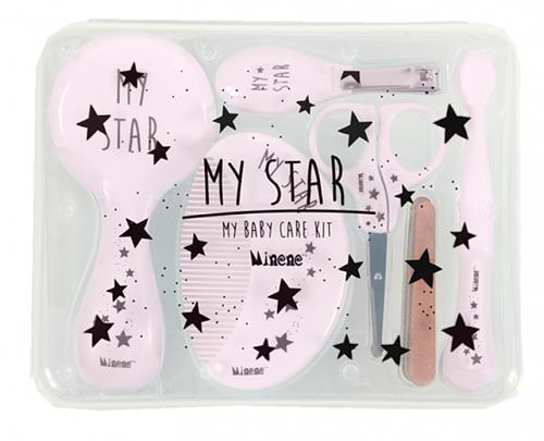 MINENE - Veľká sada starostlivosti o dieťa 6v1 My Star, ružová