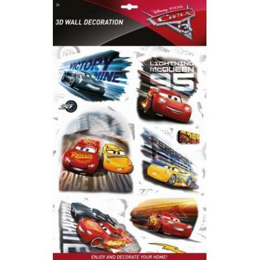 MODELS - Samolepky na stenu 3D Autá 3
