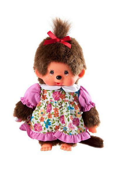MONCHHICHI - Mončiči dievča v kvietkovaných šatách 20cm
