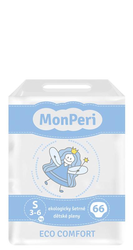 MONPERI - jednorázové plienky 3-6 kg, plienky ECO comfort S