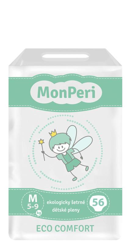MONPERI - jednorázové plienky 5-9 kg, plienky ECO comfort M
