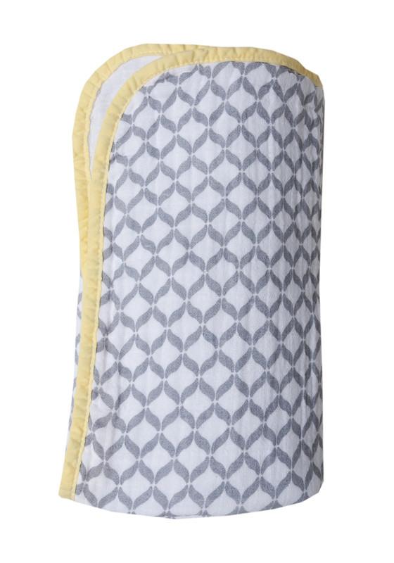 MOTHERHOOD - Deka bavlnená mušelínová dvojvrstvová Pre-Washed Grey Classics 95x110 cm