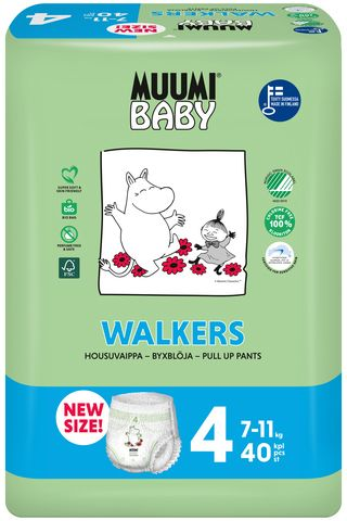 MUUMI - Nohavičky plienkové jednorázové 4 Maxi 7-11kg 40ks Baby Muumi