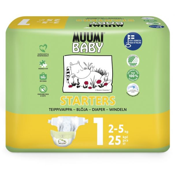 MUUMI - Plienky jednorázové 1 Newborn 2-5kg 25ks Baby Muumi