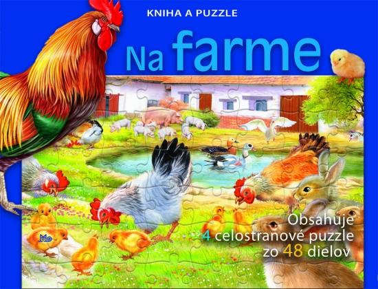 Na farme - Kniha a puzzle - Kolektív