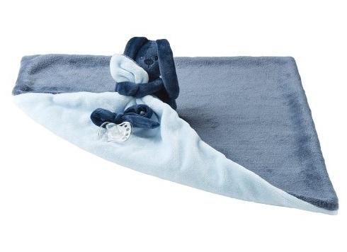 NATTOU - Deka plyšová s maznáčikom LAPIDOU light blue 48cm x 48cm