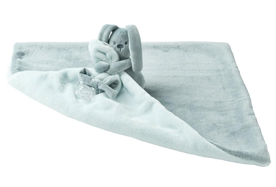 NATTOU - Deka plyšová s maznáčikom LAPIDOU mint 48cm X 48cm