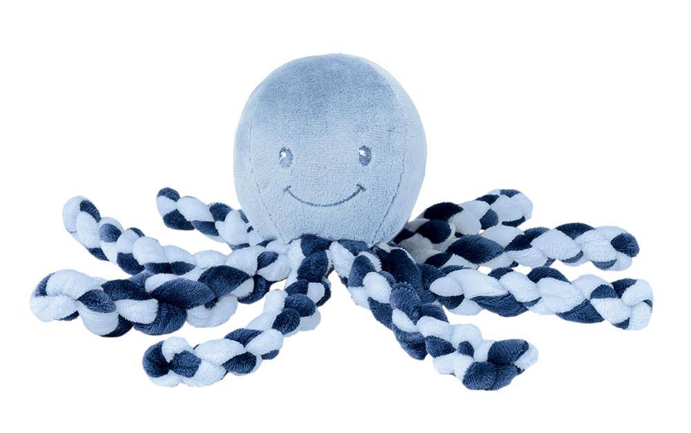 NATTOU - Prvá hračka bábätka chobotnička PIU PIU Lapidou navy blue 0m+