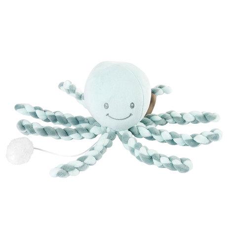 NATTOU - Prvá hračka bábätka hrajúca chobotnička PIU PIU Lapidou coppergreen - mint 0m+