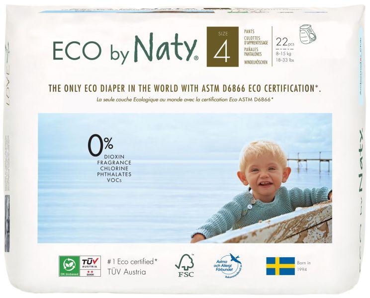 NATY NATURE BABYCARE - Nohavičky plienkové jednorázové 4 Pants 8-15kg 22ks Naty Nature Babycare