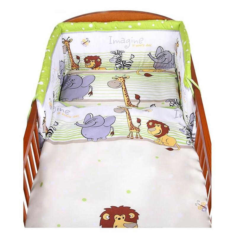 NEW BABY - 2-dielne posteľné obliečky 90/120 cm zelené safari