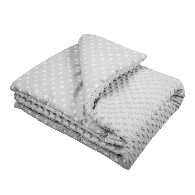 NEW BABY - Detská deka z Minky s výplňou sivá 80x102 cm