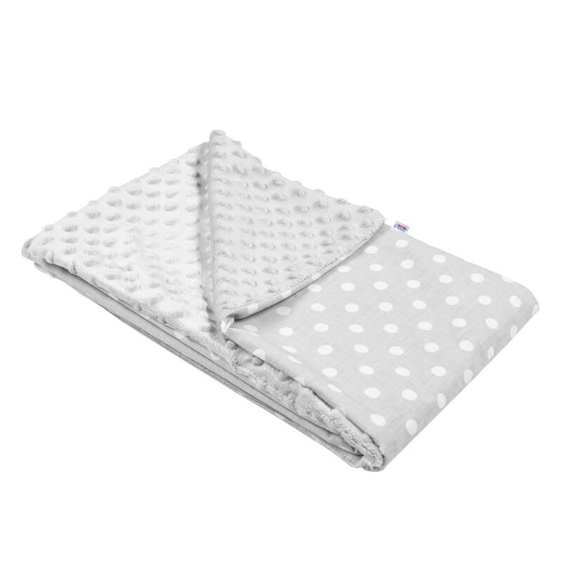 NEW BABY - Detská deka z Minky sivá 80x102 cm