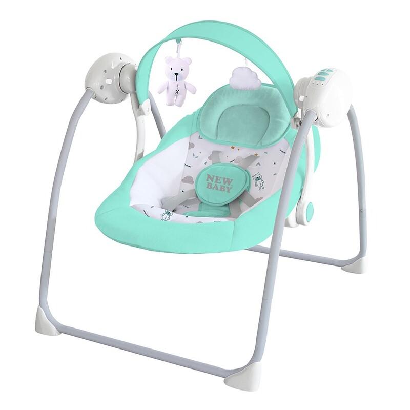 NEW BABY - Detské hojdacie lehátko TEDDY Mint