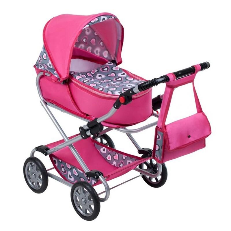 NEW BABY - Detský kočík pre bábiky 2v1 Ruženka