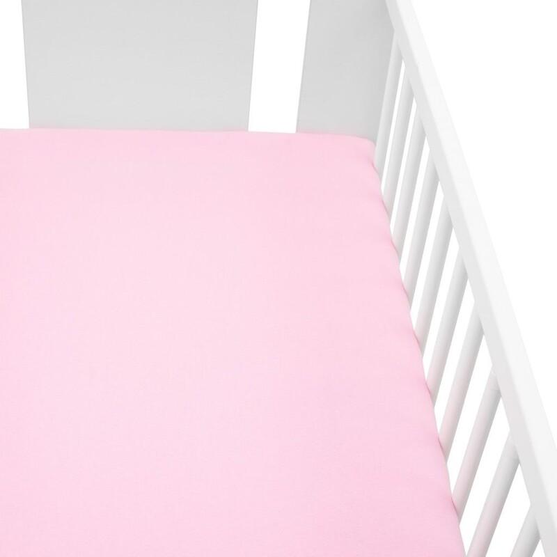 NEW BABY - Jersey prestieradlo do postieľky 120x60 ružové
