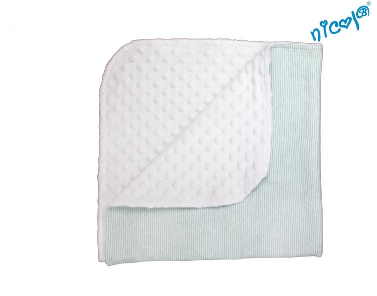 NICOL - Detská deka, dečka Morská víla - minky biela
