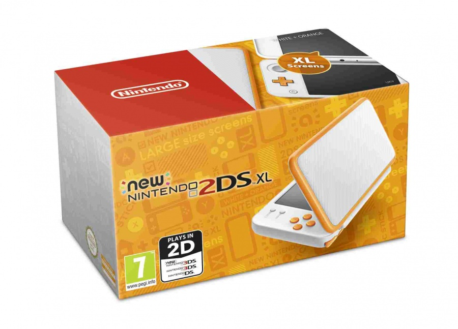 NINTENDO - New Nintendo 2DS XL White & Orange