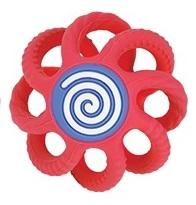 NUBY - Hryzačka gulička silikónová 3m+ červená