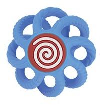 NUBY - Hryzačka gulička silikónová 3m+ modrá