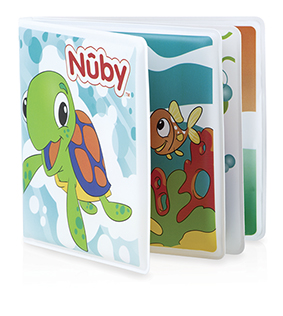 NUBY - Prvá pískacia knižka do vody 6m+