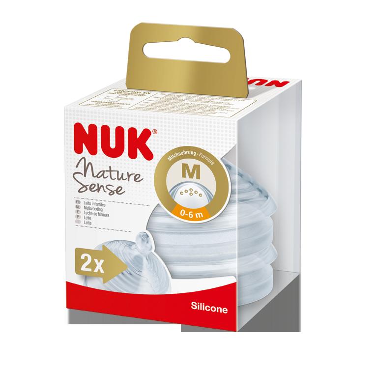 NUK - cumlík Nature Sense V1, M, 2ks