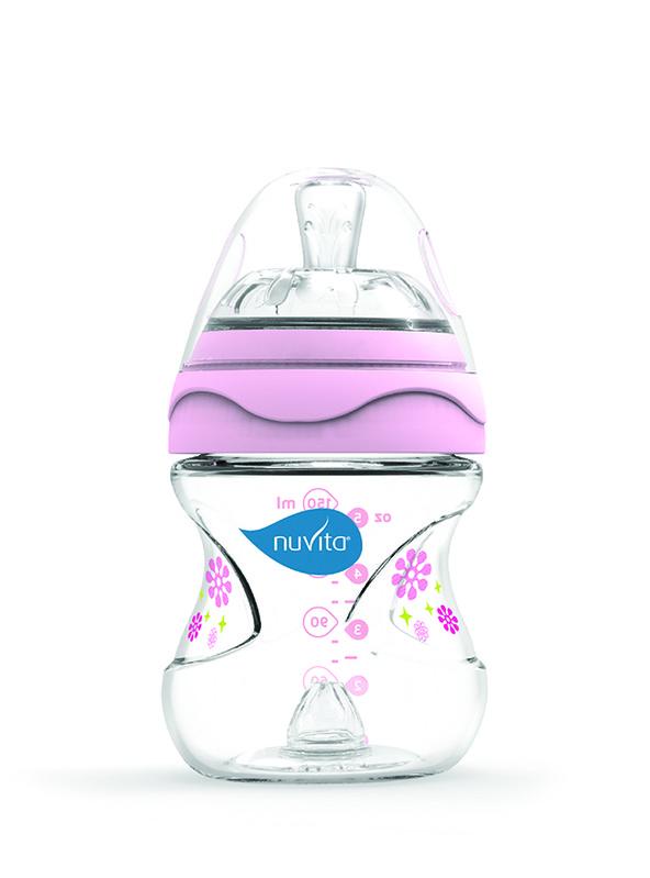 NUVITA - Dojčenská fľaša s antikolikovým systémom 150ml, Ružová