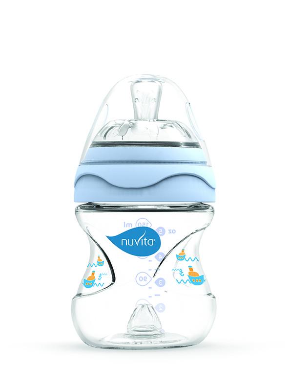 NUVITA - Fľaštička s anti-kolickým systémom 150 ml - Blue