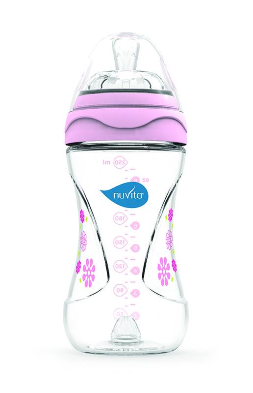 NUVITA - Fľaštička s anti-kolickým systémom 250 ml - Pink