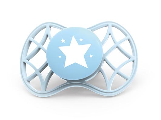 NUVITA - Fyziologický cumlík Cool 0m +, Blue Sky