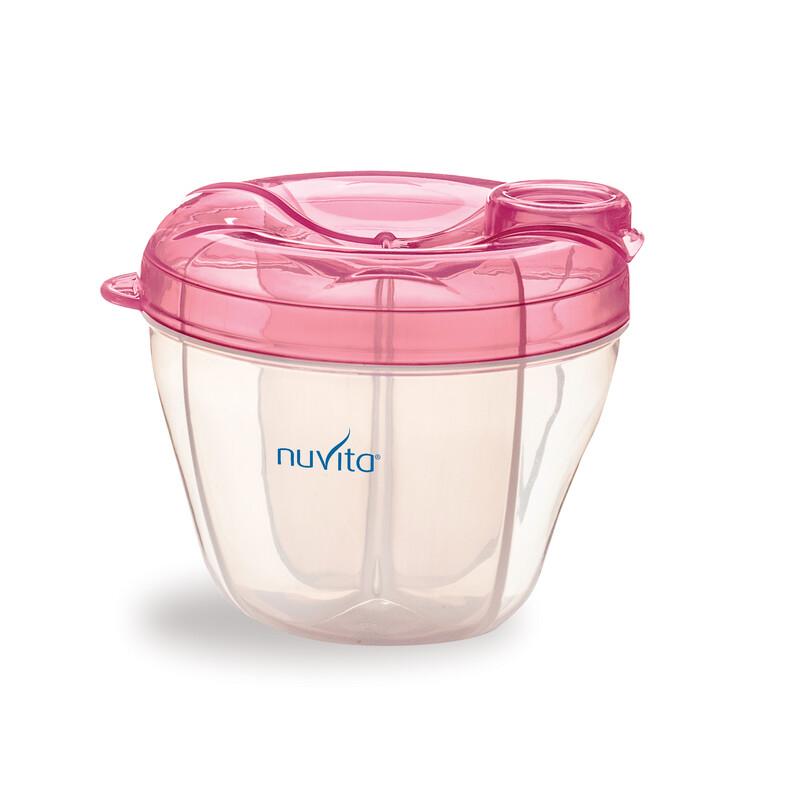 NUVITA - Nádoba a dávkovač na sušené mlieko, Pastel Pink
