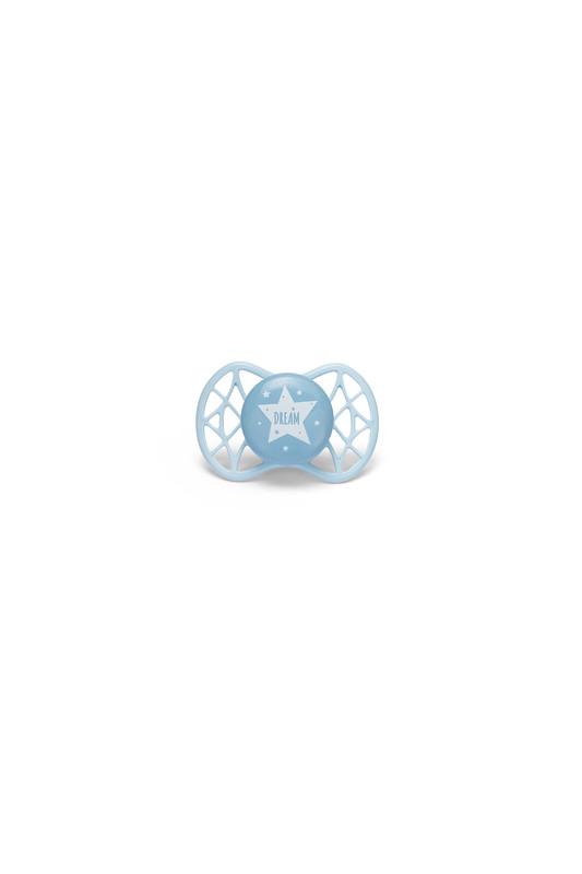 NUVITA - Ortodontický cumlík Cool 0m +, Blue Sky