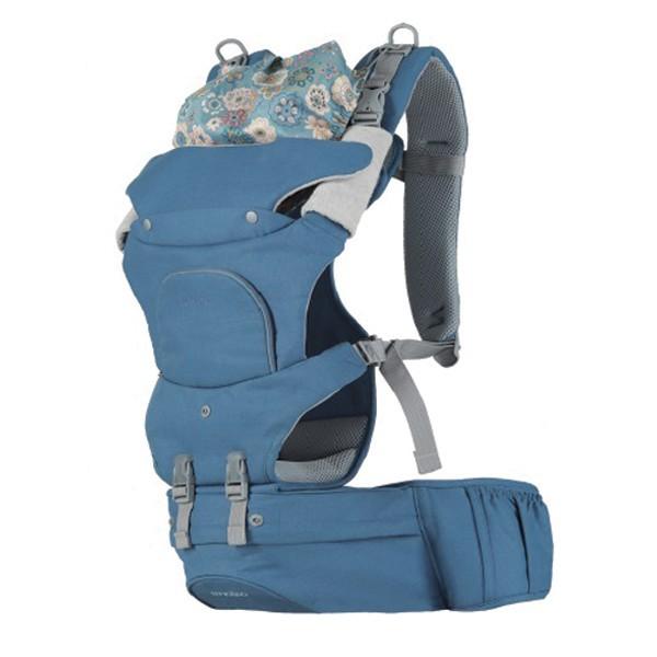 NUVOLINO - Nosič pre dieťa Active Hipseat, 2018, modrý
