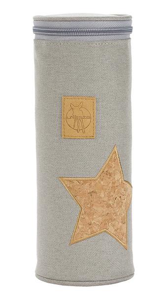 LÄSSIG - Obal na fľašu Casual Bottle Holder Single - Cork Star light grey